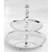 Petit Four Stand 10 x 12.5cm Silver plated, 2 tier