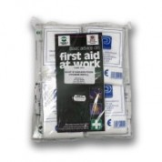 HSE Catering First Aid Kit Refill 10 PersonIncludesFirst Aid Guidance Letter x 1Sterile Dressing (Medium) x 6Sterile Dressing (Large) x 2HypaBand Triangular Bandage x 4Safety Pins (12 Assorted) x 1Sterile Eye Dressing x 2Blue Detectable Washproof
