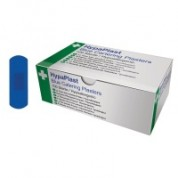 Blue Detectable Plasters Rectangular 100 Per Box 7.5 x 2.5cm