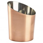 Angled Cone Copper Plated 11.6 x 9.5cm