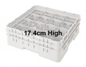 Camrack 17.4cm High 16 Compartment Glass Storage