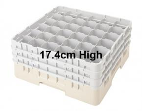 Camrack 17.4cm High 36 Compartment Glass Storage