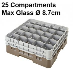Camrack 25 Compartment Glass Storage