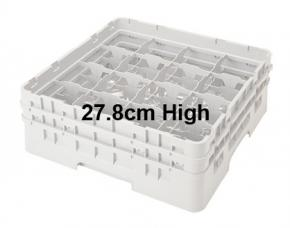 Camrack 27.8cm High 16 Compartment Glass Storage