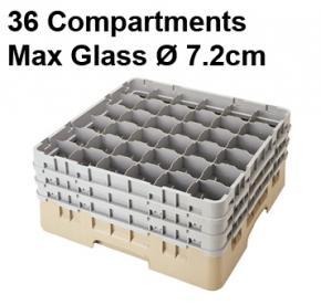 Camrack 36 Compartment Glass Storage