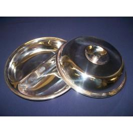 Round Vegetable Dish (2 Divisions)