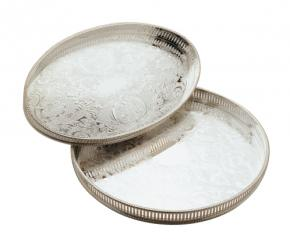Round & Oval Silver Trays