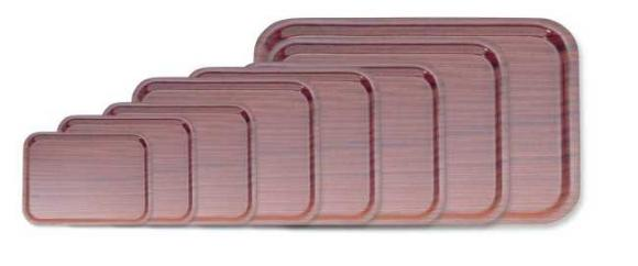 Rectangular Mahogany Laminated Trays