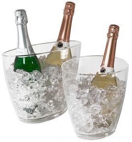 Oval Clear Acrylic Champagne Buckets