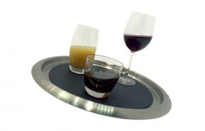 Stainless Steel Serving Trays with Silicone Mat