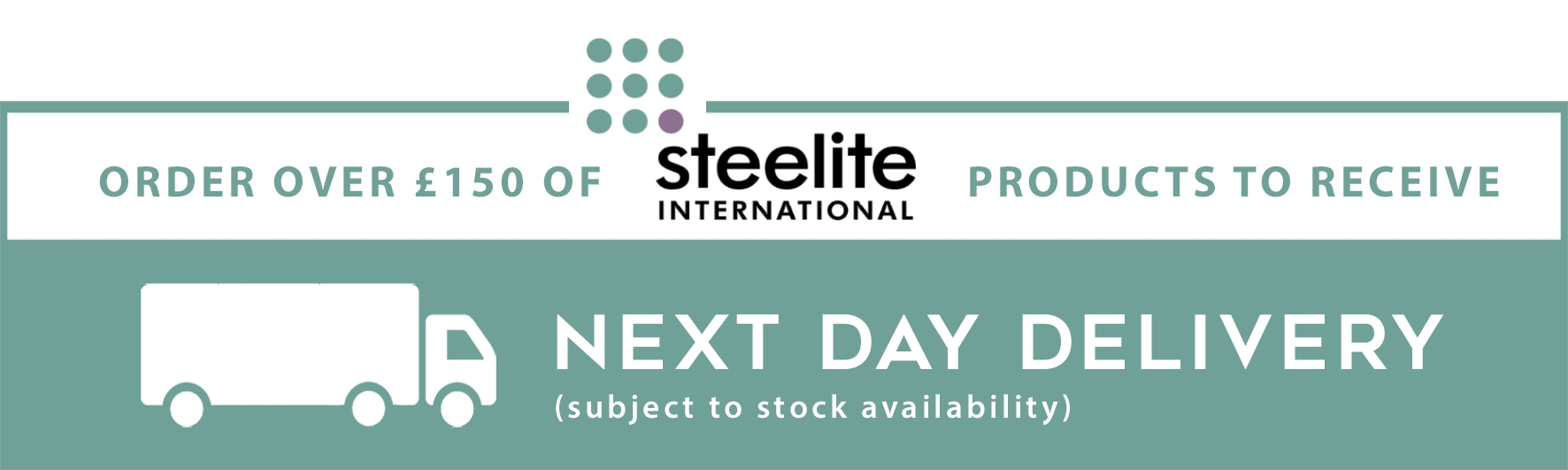 Get your order tomorrow when you order £150 net of steelite products by 11am - subject to stock