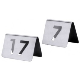 Tent Numbers 85-96 Stainless Steel Mirror Finish