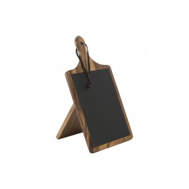 Tuscany Acacia Small Paddle Chalk Board with Stand 15 x 1 x 26.8cm (LxWxH)