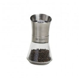 Tip Top Pepper Mill Stainless Steel Top & Glass Base 12.5cm