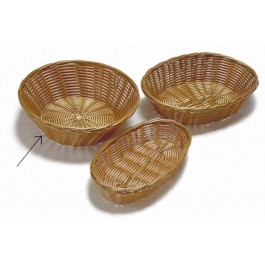 Bread Basket 21.5 x 7cm Woven Polywicker, Round