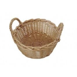 Bread Basket 22.5cm Wicker/Willow, Round