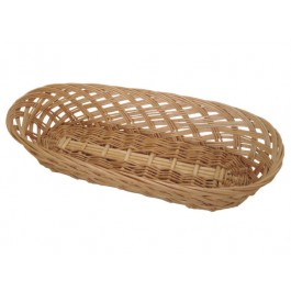 Bread Basket 37.5 x 15cm Wicker/Willow, Oblong