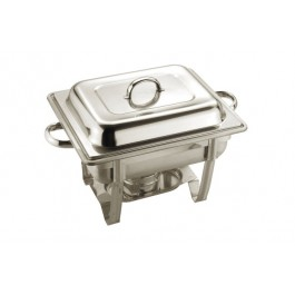 Chafing Unit Rectangular Lift Lid Stainless Steel Full Size Stackable. 55 x  30 x 35cm (LxWxH). 8.5 Litre