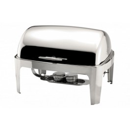 Sunnex Chafing Unit Rectangular Roll Top Stainless Steel Full. 74 x 65.5 x 32.5cm (LxWxH). 8.5 Litre
