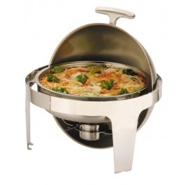 Sunnex Chafing Unit Round Roll Top Stainless Steel. 36 x 36 x 44cm (LxWxH) 6.8 Litre