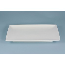Oriental Range Oblong Dish White, contemporary 32 x 21cm