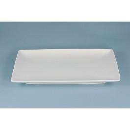 Oriental Range Oblong Dish White, contemporary 19.5 x 11.75cm