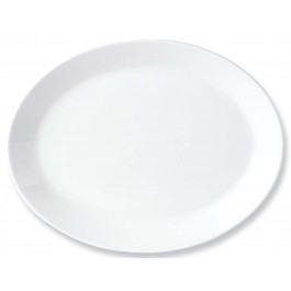 Steelite Simplicity White Oval Dish Coupe 25.5cm