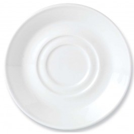 Steelite Simplicity White Stand/Saucer Double Well (large) 14.5cm