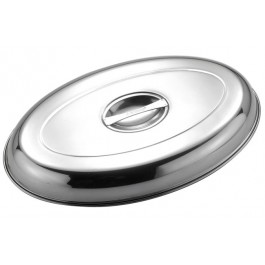 Cover for Vegetable Dish  35.5cm - Stainless Steel, Oval