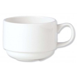 Steelite Simplicity White Cup Slimline Stacking 28.4cl