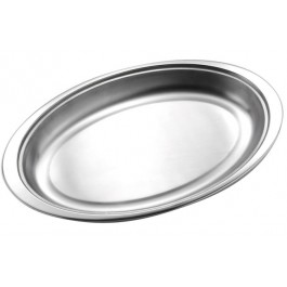 Vegetable Dish Base  17.75cm - Stainless Steel, Oval DISCON