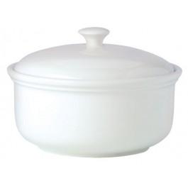 Steelite Simplicity White Casserole 2 Litre lid