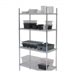 Chrome Racking 4 Tier 122 x 45 x 183cm