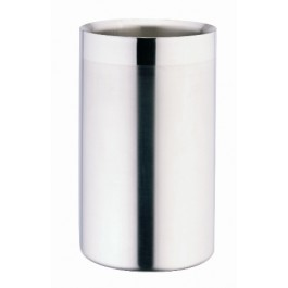 Wine Cooler 18/10 Stainless Steel, Double Walled, Matt Satin Body and Mirror Finish Rim 19.5cm (H) x 10cm (D)