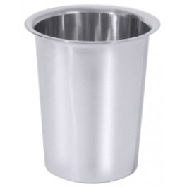 Cutlery Cylinder 10 x 13.5cm Solid, 18/10 Stainless Steel