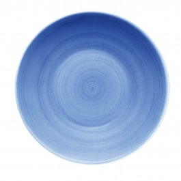 Modern Rustic Blue Deep Coupe Plate 24cm