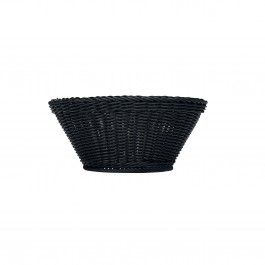 Emotion Basket Round Plastic. Black 18cm