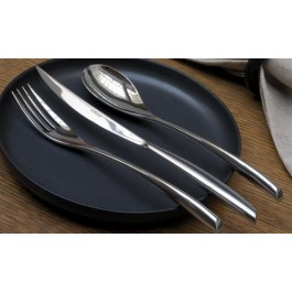 Bamboo Serving Spoon 18/10 Stainless Steel