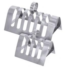 Toast Rack 4 Slot 14x8cm 18/10 Stainless Steel