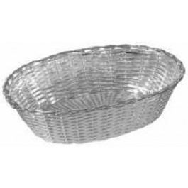 Oval Bread basket 20 x 14 x 6cm 0.5 microns silver plated