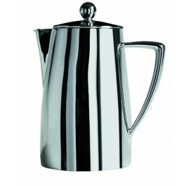 Art Deco Cafetiere 6 cup, 75cl, Stainless Steel