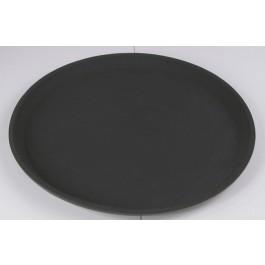 Tray Round 40.5cm Black, Non Slip