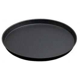 Pizza Pan 32cm Blue steel, rolled edge, Not Dishwasher Safe