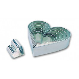 Heart cutter Set of 8, tinplate