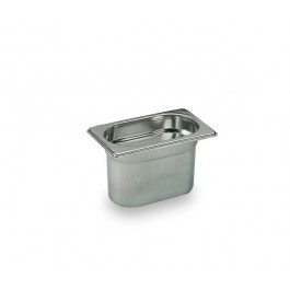 Bourgeat Stainless steel Gastronorm Pan 17.6 x 10.8cm 1/9 - 65mm depth