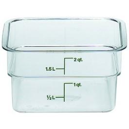 Cambro CamSquare Container 18.5 x 18.5 x 10cm Polycarbonate, 1.9 Litre