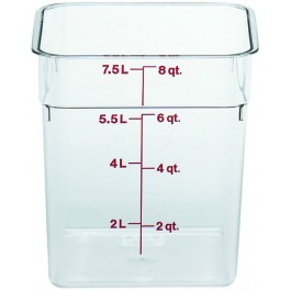 Cambro CamSquare Container 21.5 x 21.5 x 23cm Polycarbonate, 7.6 Litre