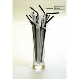 Clear Flexi Straw 21cm, 5mm Bore (Pack of 250) DISCON
