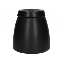 La Cafetiere Barcelona Black Storage Jar Ceramic 12.7 x 13.6 x 12.7cm