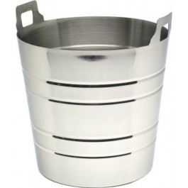 Wine Cooler 5 Litres 20 x 19cm (D x H) Stainless Steel Integrated Handle